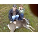 Eric and I and our deer